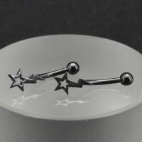 Микробанан 1,2 мм, чёрное анодирование. Звезда и молния. BNE0627