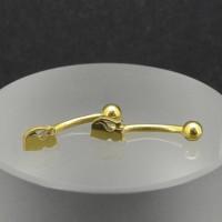 Микробанан 1,2 мм, золотое анодирование. Кошка. BNE0634