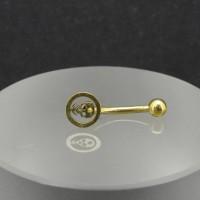Микробанан 1,2 мм, золотое анодирование. Череп. BNE0639