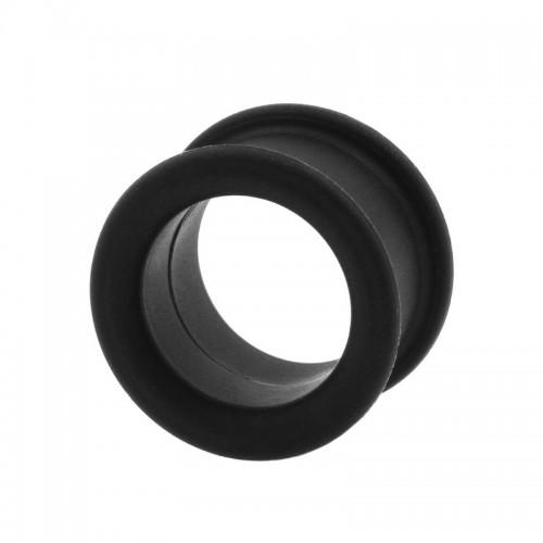 Тоннель силиконовый. Черный. FTSIBL купить в интернет-магазине Пирсингмаркет