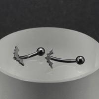 Микробанан 1,2 мм, чёрное анодирование. Летучая мышь. BNE0623